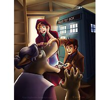 Doctor Who and Red Riding Hood (Prints, Cards and Posters) Photographic Print