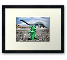 Road-trip photos: Dinosaur! Framed Print