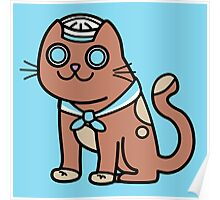Sid the Sailor Cat Poster
