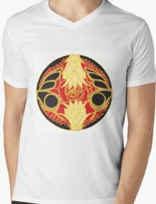 Pineapple, Butterfly, Rose 3 Mens V-Neck T-Shirt