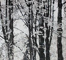 Specks of Light, mixed media on canvas by Sandrine Pelissier
