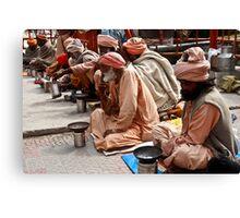 Beggars At Badrinath Shrine Canvas Print