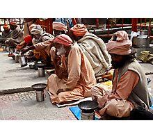Beggars At Badrinath Shrine Photographic Print