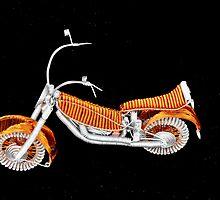 Motorcycle Wire Art by Al Bourassa