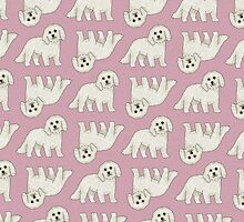 Bichon Frisé pattern by neonflower