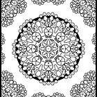 Brocade Design Coloring Book Page by ArtzMakerz