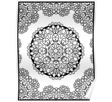 Brocade Design Coloring Book Page Poster