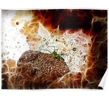 ©DA Green Spider Paintography Poster
