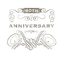 40th Anniversary (Vintage)  by thepixelgarden
