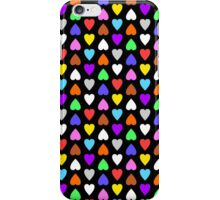 Multicolored Candy Hearts iPhone Case/Skin