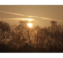 Sunrise Through The Mist Photographic Print