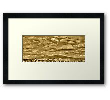 ©HCS Cloudy Day In Vintage Sepia Framed Print