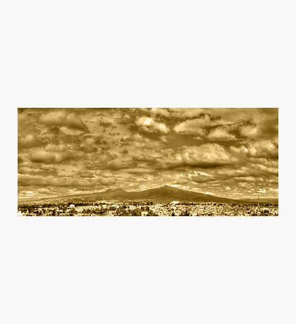 ©HCS Cloudy Day In Vintage Sepia Photographic Print