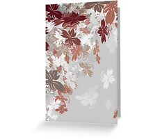 Silver Autumn Leaves Greeting Card