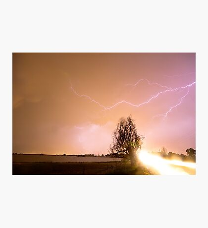 North Boulder County Colorado Lightning Strike Photographic Print