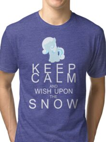 My Little Pony - Keep Calm and - Snowdrop Tri-blend T-Shirt