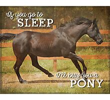 I'll Buy You A Pony – 4:5 Photographic Print