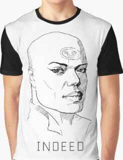Teal'c Stargate white background Graphic T-Shirt