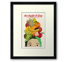 An Apple A Day- Health Poster Framed Print
