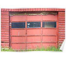 Red Garage Door Poster