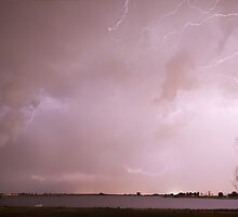 Terry Lake Lightning Thunderstorm by Bo Insogna