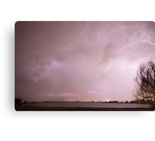 Terry Lake Lightning Thunderstorm Canvas Print