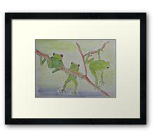 'FROGS' Framed Print