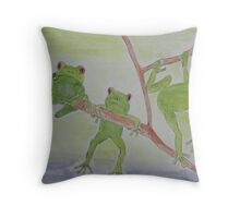 'FROGS' Throw Pillow