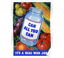 Can All You Can It's A Real War Job Poster