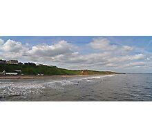 Saltburn Beach Panoramic Photographic Print