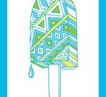 Pop ice pop 2 Blues-Green-Yellow border by aygeartist