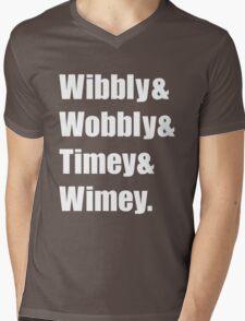 Wibbly Wobbly Ampersand Mens V-Neck T-Shirt