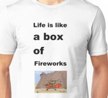 life is like a box of fireworks Unisex T-Shirt