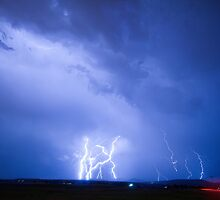 Rabbit Mountain Area Lightning Strikes Boulder County by Bo Insogna