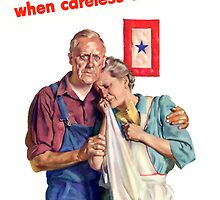 Americans Suffer When Careless Talk Kills by warishellstore