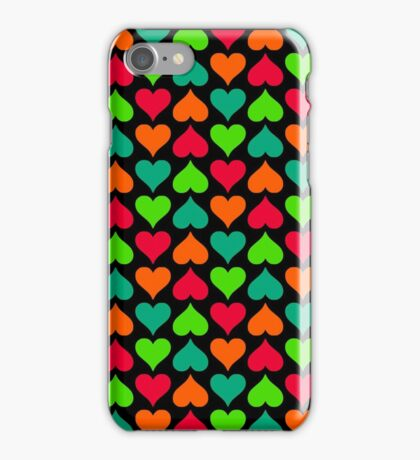 Candy Hearts (Black) iPhone Case/Skin