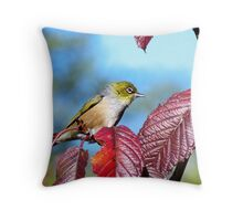 Winter is here - Silver Eye........! Throw Pillow