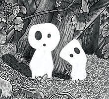 Tree Spirits - Black and White by Pete Katz