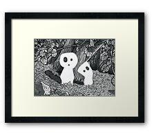 Tree Spirits - Black and White Framed Print