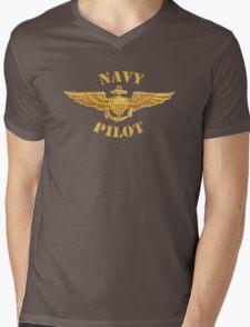 Navy Pilot Wings T-shirt Mens V-Neck T-Shirt