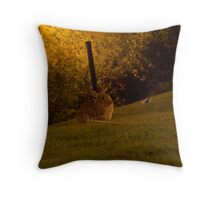 Night animal Throw Pillow