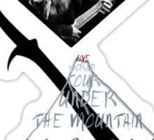 Orcrist- Live Under the Mountain (Red- Without Tour Dates) Sticker