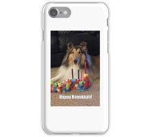 Rough Collie Happy Hanukkah iPhone Case/Skin