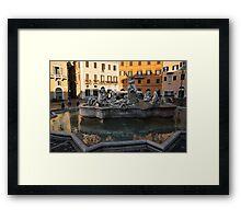 Neptune Fountain Rome Italy Framed Print