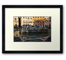 Neptune Fountain Rome Italy Framed Print
