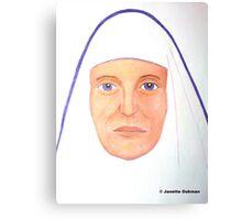 Purple Nun - Pencil Portrait Canvas Print