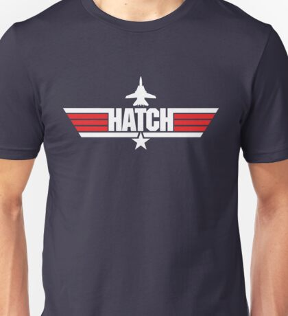 Custom Top Gun Style - Hatch Unisex T-Shirt