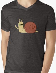 Adventure Time snail possessed Mens V-Neck T-Shirt