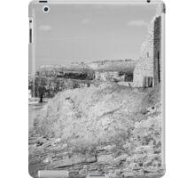 black and white ballybunion castle ruins iPad Case/Skin