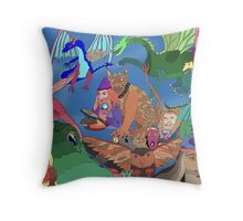Wizards and Dragons Throw Pillow